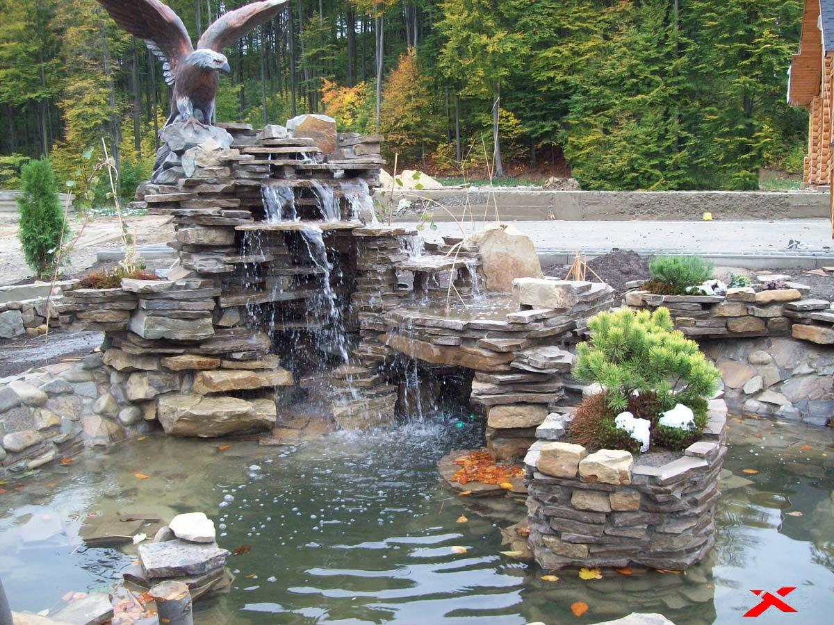 Как сделать водопад из камней своими руками