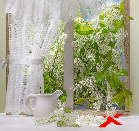 Распахни окно в аромат цветущего сада.