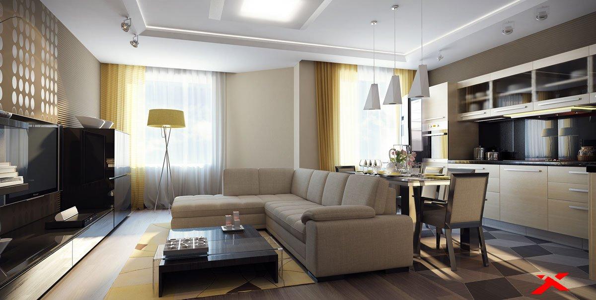 Кухня гостиная 25 кв м дизайн эконом
