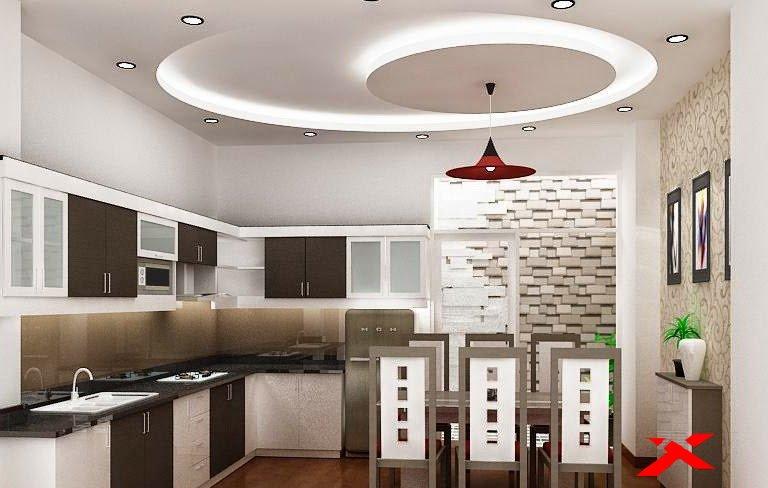 Потолок из гипсокартона для потолок кухни дизайн