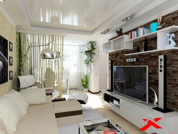 Дизайн в гостиной хрущевки