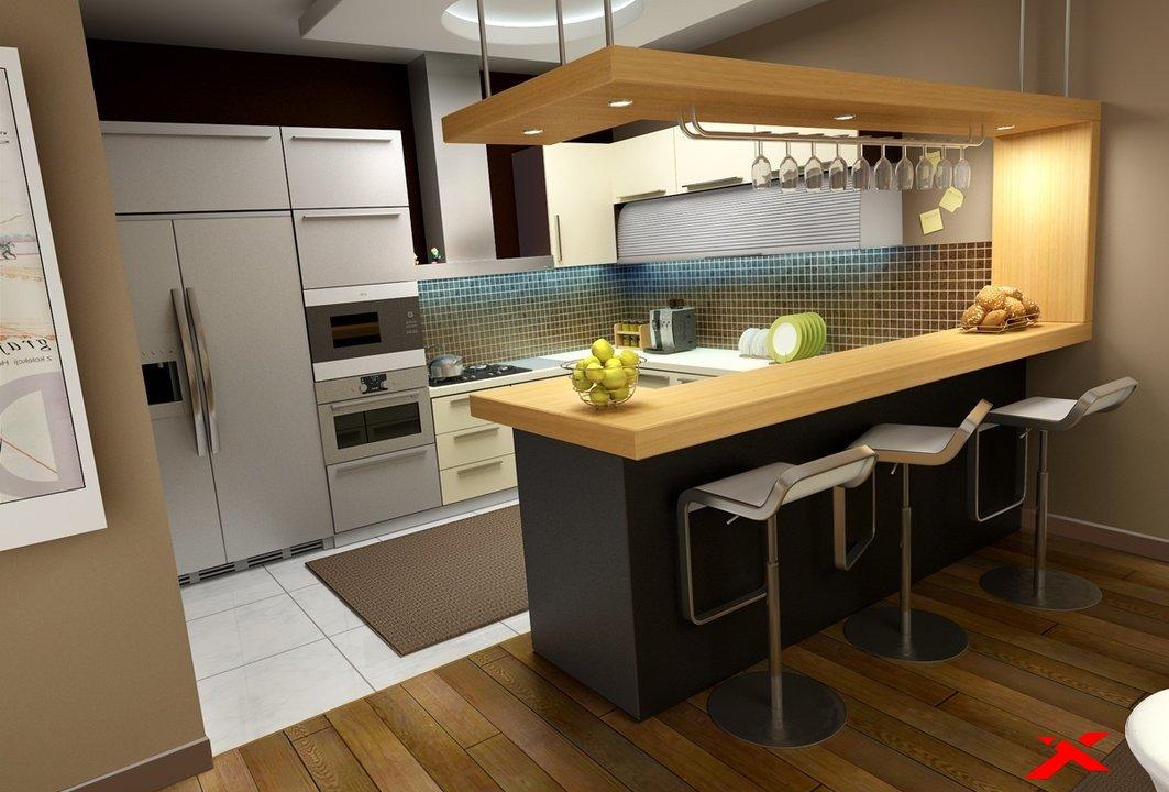 Кухни для студий с барной стойкой дизайн