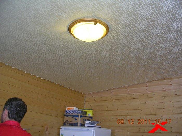 Потолок своими руками на даче фото