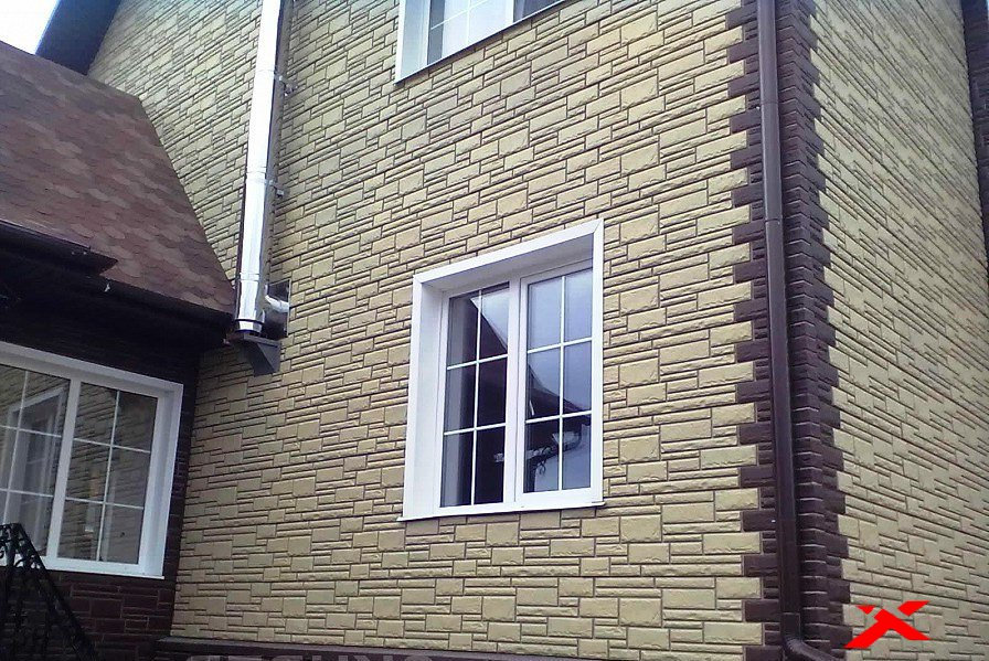 Обшить дом фасадными панелями 74