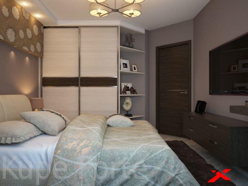 Спальня 12 кв м дизайн с угловым