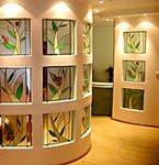 Декор интерьера стеклом