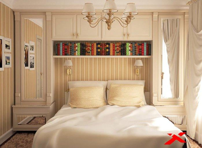 Как увеличить маленькую спальню