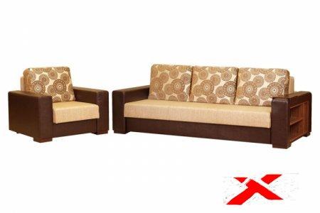 Выбираем диван с деревянными подлокотниками
