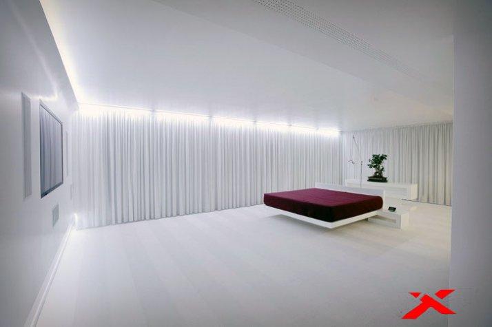 Красивое освещение спальни