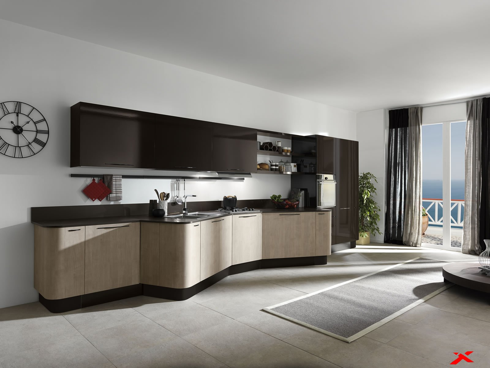 Мебель на современной кухне в стиле модерн