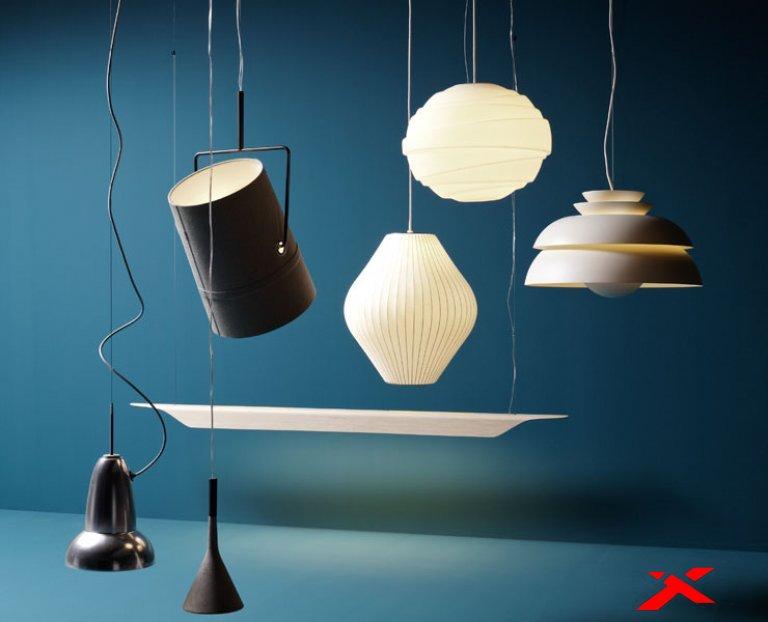 Подвесные светильники в интерьере помещений