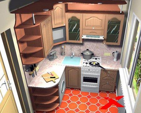 Дизайн маленькой кухни в частном доме