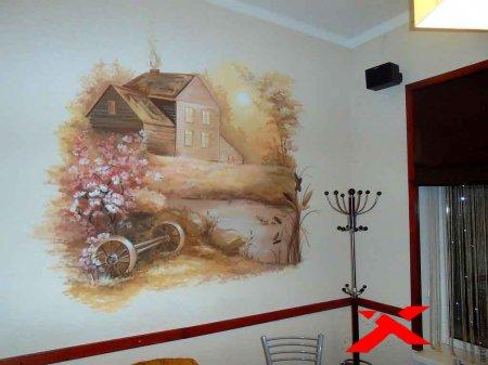 Роспись стен как способ решения интерьерных проблем.
