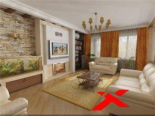 дизайн интерьера зала в доме