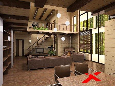 Дизайн проект интерьера загородного дома на заказ