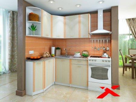Недорогая кухонная мебель для маленькой кухни