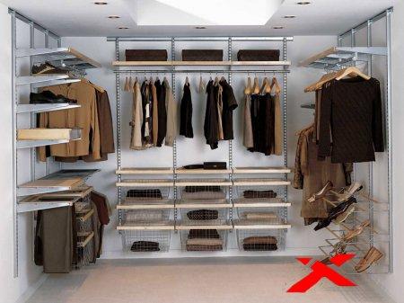 Скелет для гардеробной комнаты