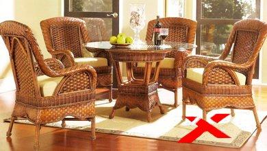 Уход за плетеной мебелью.