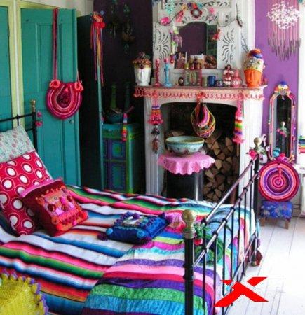 Дизайн интерьера детской комнаты для девочки в богемном стиле