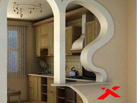 Фото арки на кухне вместо двери