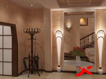Дизайн и отделка большой прихожей в частном доме