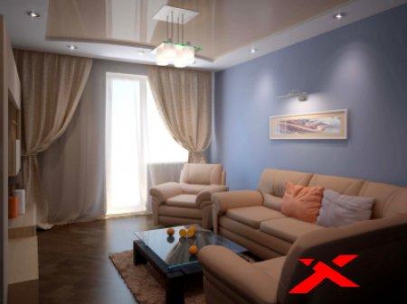 Ремонт гостиной: дизайн, фото реальные