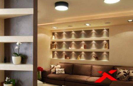 Ниши из гипсокартона в гостиной: реальные фото