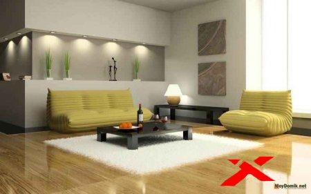 Дизайнерское освещение гостиной