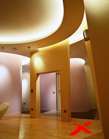 Подсветка многоуровнего потолка