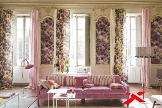 Декор интерьера цветами