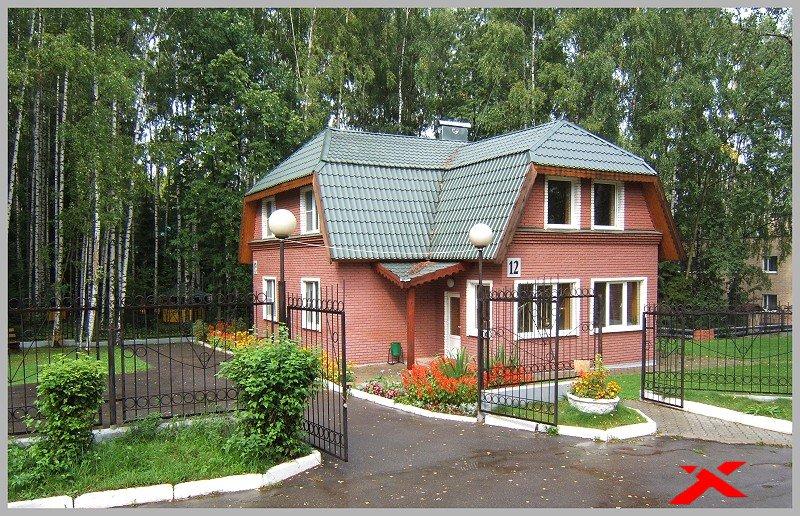 Фото дома из розового кирпича