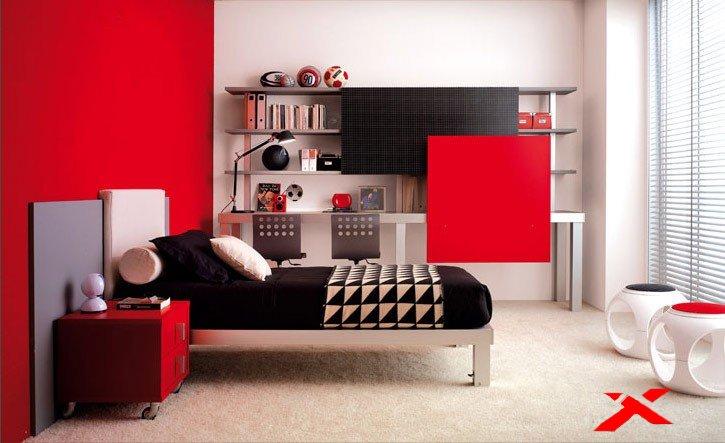 Интерьер спальни подростка22