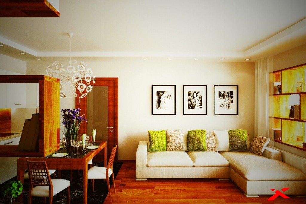 Дизайн гостиной - столовой