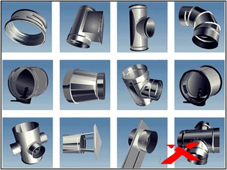 Использование воздуховодов различных типов