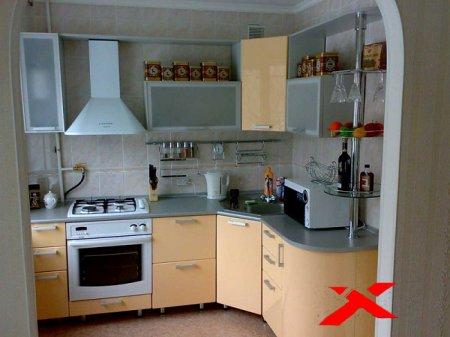 Угловой гарнитур для кухни в хрущевке