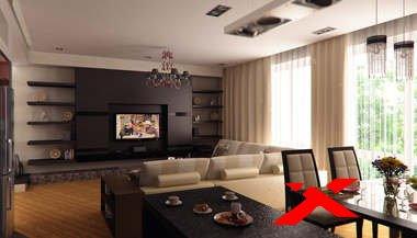 Дизайн интерьера гостиной коттеджа