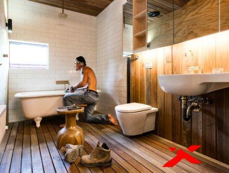 Ошибки при ремонте в ванной комнате