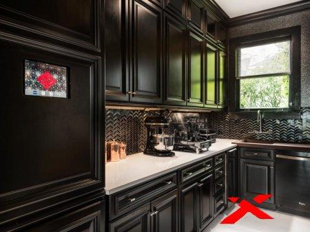 Создание кухни в черных тонах: советы дизайнеров