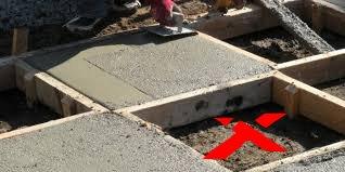 недостаток бетона